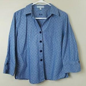Foxcroft Polka Dot Shirt Jacket